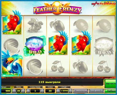 Играть онлайн на реальные деньги на слоте Feather Frenzy